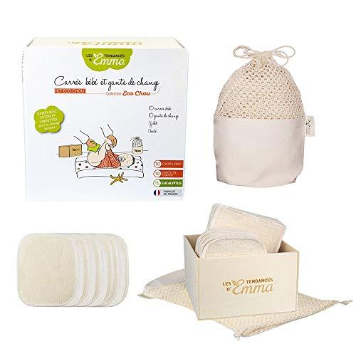 Kit Eco Chou - Lingettes bébé lavables - Matière - Eucalyptus