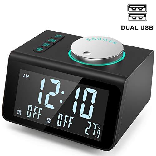 ANJANK Small Alarm Clock Radio - FM...