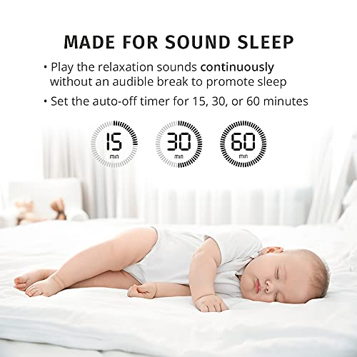 MyBaby SoundSpa White Noise Machine for Babies | 6 Soothing Lullabies for Newborns, Sound Therapy for Travel, Relaxing, Kids, Newborns, Baby Songs, Adjustable Volume, Auto-off Timer, By HoMedics
