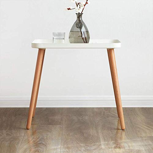 H-CAR Sofa Table,End Side Tables, Side Table Living Room Metal Tray Beech Coffee Table Wooden Corner Storage Tables Simple Modern End Table for Bedroom Snack Table