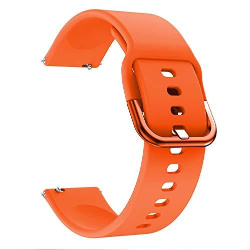 PZZZHF Banda de Relojes de Accesorios de Pulsera 22 mm para Huawei Watch GT 2E / GT 2 46mm para Amazfit GTR 47mm Silicone 22mm para Samsung Galaxy Gear S3 Classic/Frontier Reemplazo de RelojStrap
