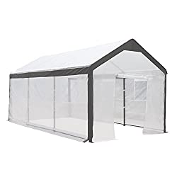 10 x 20-Feet Large Walk-in Greenhouse with Windows