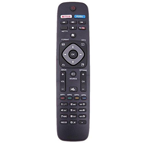 LitterPrince - Mando a distancia PHI-958 para televisores Phillips URMT39JHG003 YKF340-001 Phillips, reproductores de DVD Philips Bluray