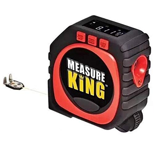 3 in 1 meetlint King Laser String Rollar digitale meetlint zwart en rood