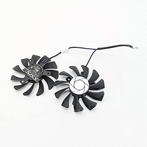 Ventilador Dual Fan para tarjeta de vídeo MSI Geforce GTX 1050Ti GTX 1050 Ti 2GT/4GT-OC HA8010H12F-Z 75 mm 2 pines