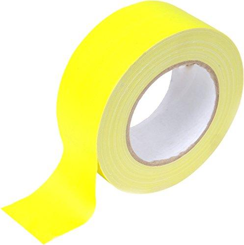 feme 90755Neon tejido de cinta 50mm x 25m), color amarillo