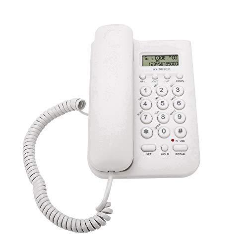 Ymiko Home Hotel Cablato Desktop Telefono da Parete Telefono Fisso Telefono Fisso Telefono con Filo(White)