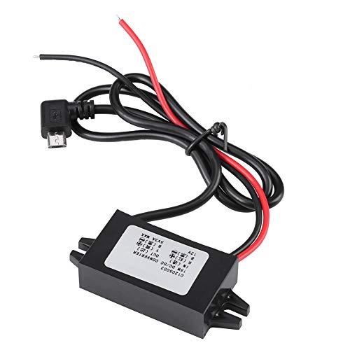 Gaeirt Convertidor USB, convertidor de Voltaje de Coche de Baja Temperatura térmica, Gran conductividad eléctrica, USB de ángulo Recto para estéreo de Coche para monitorización