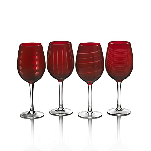 Mikasa Cheers Ruby Wine Glass, 16 Ounce, Set of 4