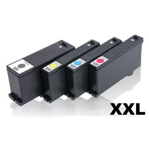 4x Kompatible Tintenpatronen für Lexmark Prevail Pro705 Prevail Pro706 Prevail Pro707 Prevail Pro708 Prevail Pro709 Pro200 Series Set (Black + Cyan + Magenta + Yellow)