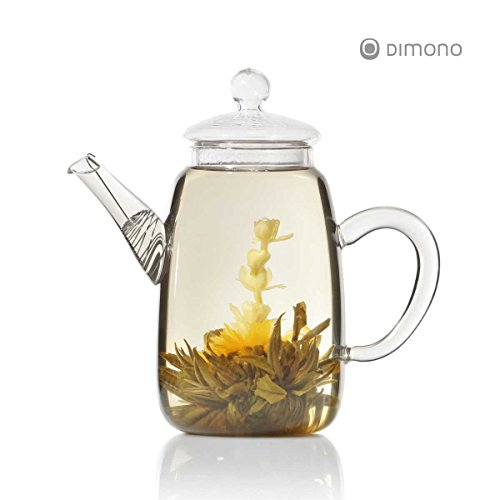 Teekanne aus Glas mit Teefilter klassische Tee-Filter Kanne 600ml von Dimono - 3