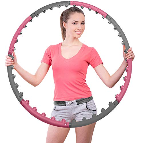 of professional hula hoops INTRAGYM Hula Hoops for Adults, Weighted Magnetic Massage Hoola Hoop for Exercise-2.3lb, Adjustable Design-Professional Weight Loss Fitness Hula Hoop