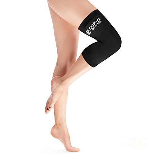 Copper Compression Womens Contoured Performance Knee Sleeve Guaranteed Highest Copper Content with Infused Fit. Best Knee Support Brace for Women. Support Stiff + Sore Muscles + Joints (Large)