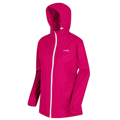Regatta Damen Womens Pack It III Waterproof and Breathable Lightweight Packaway Outdoor Jacke, Dunkle Kirsche, 40