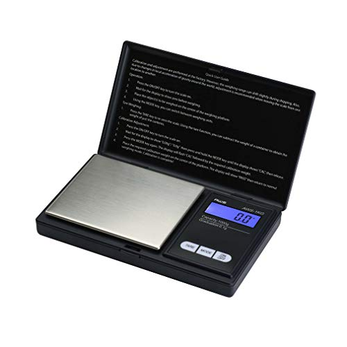 AWS Series Digital Pocket Weight Scale 1kg x 0.1g, (Black), AWS-1KG-BLK