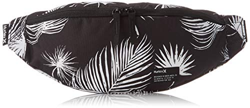 Hurley Printed Scout Hip Pack Riñonera, Mujer, Black Palm, 1SIZE