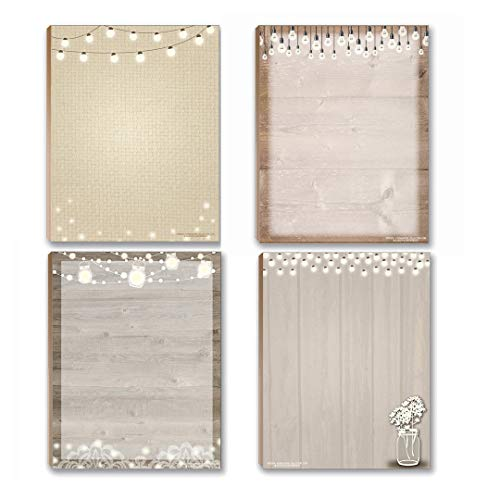 Rustic Notepads - 4 Assorted Notepads (Rustic)
