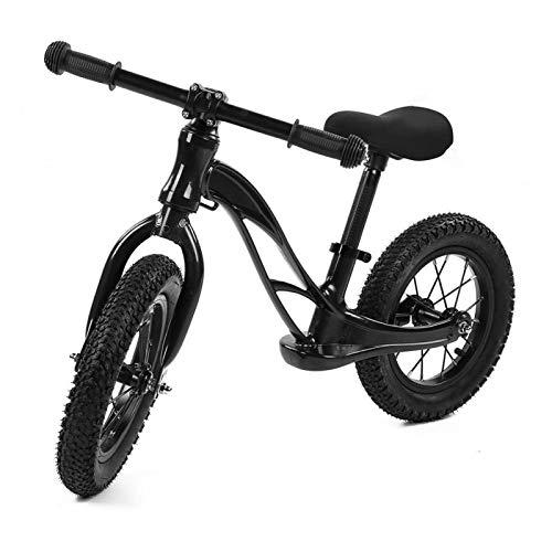 Scooter para niños de dos ruedas, bicicleta de equilibrio para niños de aleación de magnesio, mini bicicleta sin pedales, 2 almohadillas protectoras para ruedas delanteras(negro)