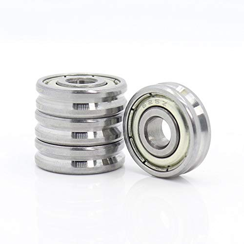 Rodamientos de rodillos de precisión V Groove de bolas sellados Teniendo 5x16x5 5x19x6mm Polea rodamientos de rueda V2 / 0,5 V2 / V3 1/1 Guía Track Rlooer 4PCS Teniendo ( Size : 051605V2 0.5 4PCS )