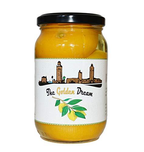 Hymor eingelegte Zitronen - 3 Gläser (600g) - Zitrone, aus Marokko, Marokkanische Salzzitronen, in Salzlake, Zitronen eingelegt im Glas, vegan, glutenfrei, Tajine Cous-Cous Fisch Risotto (3 Gläser)