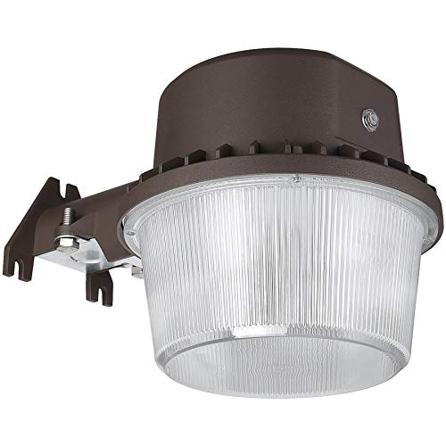 TORCHSTAR Dusk to Dawn Area Light with Photocell, 5000K Daylight Outdoor Security Floodlight, ETL-Listed for Yard Patio, Bronze