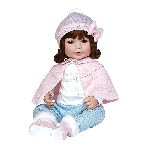 Adora ToddlerTime Jolie Doll in Winter Themed Outfit with Pink Capelet, and Fur timmed Booties