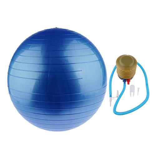 perfeclan Pelota de Ejercicio Pelota de Yoga Más Estable con Base Extragruesa para Asientos de Entrenamiento Fitness Partos - Azul, 45cm