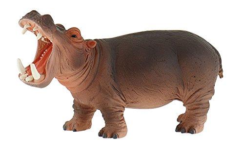 Bullyland 63691 - Spielfigur, Nilpferd, ca. 14,8 cm groß, liebevoll handbemalte Figur, PVC-frei, tolles Geschenk für Jungen und Mädchen zum fantasievollen Spielen
