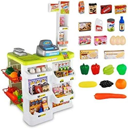 QARYYQ Kinder Simulation Supermarkt Spielzeug Gürtel Warenkorb Scanner Küche Spielzeug Geburtstagsgeschenk Junge 41x48x82cm Spielzeug (Farbe   rot)