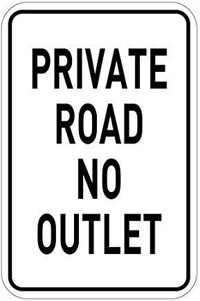 Modtory privé weg geen stopcontact aluminium metalen teken