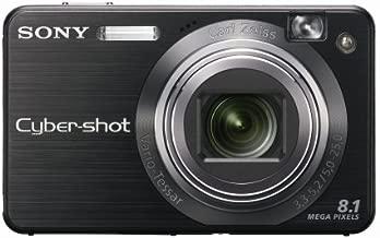Sony Cybershot DSCW150/B 8.1MP Digital Camera with 5x Optical Zoom with Super Steady Shot (Black)