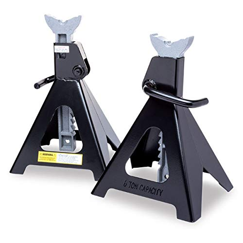Eastwood 6 Ton Jack Stands Set of 2 Adjustable Ratcheting Pair Heavy Duty Lift Lock Capacity Car Truck Auto