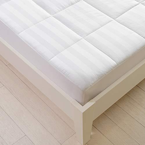 Sancarlos Reversible Tela Confort Protector de colchón, Blanco, Cama de 180