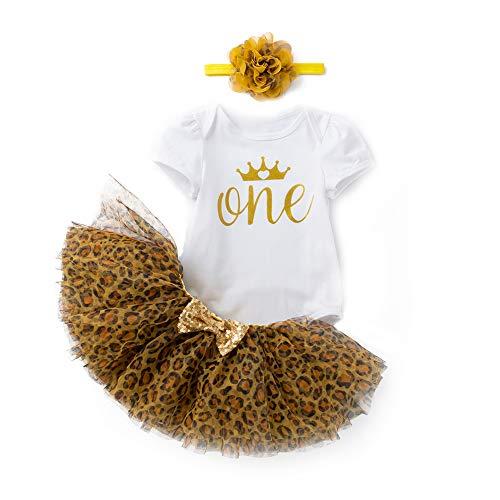 Conjunto de 3 piezas de ropa de verano para bebés recién nacidos para cumpleaños, mameluco de manga corta + falda tutú + diadema para tarta Smash fotografía
