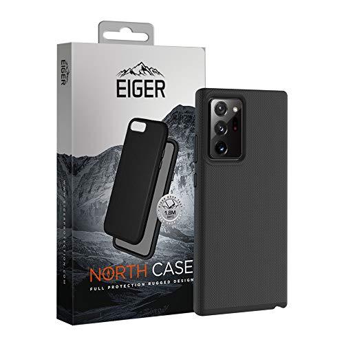 EIGER North - Carcasa para Samsung Galaxy Note 20 (resistente a los golpes, fácil acceso), color negro mate