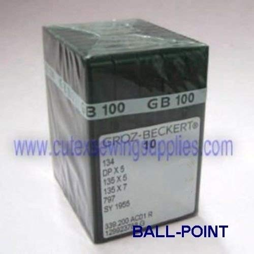 Discover Bargain 100 Groz-Beckert 134R 135X5 DPX5 Ball-Point (FFG) Sewing Machine Needles