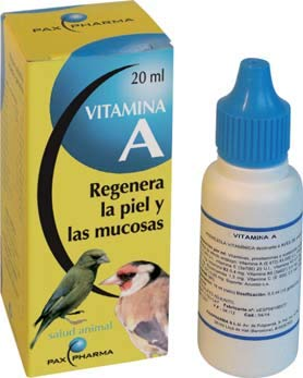PAX FARMA Vitamina A PAJAROS 20 ML