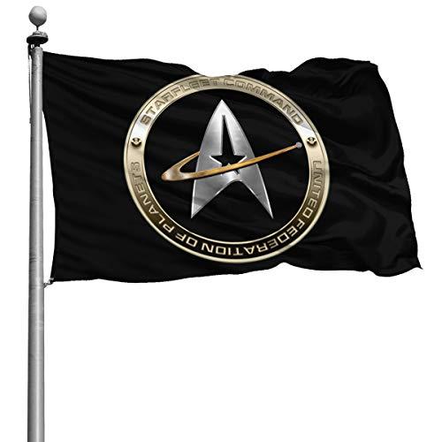 Walter Margaret Hittings Neva Star Trek 50 Dekorative Garten-Flaggen, für Zuhause, Garten, Hof, Dekoration, 1,2 x 1,8 m, Schwarz , Einheitsgröße