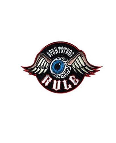 Patch Aufnäher sportsers Rule Motorrad Custom Harley Davidson Biker-Weste in Leder