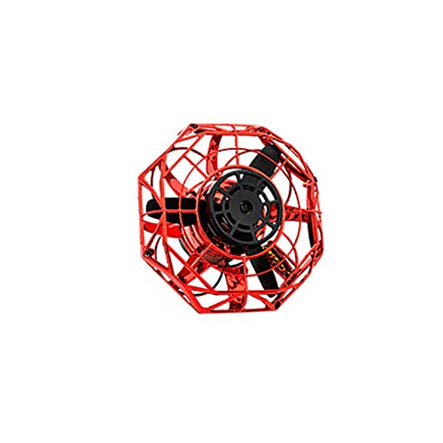 Webla✔ Full Cover 3D Rolling Induktionsdrohne Quadcopter Toy Rtf Headless Mode Hover(Rot)