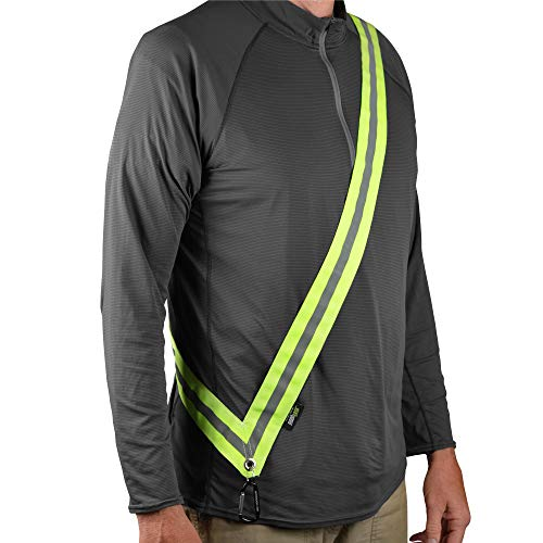 MOONSASH XL – Patented Reflective Night Safety Gear for Big/Tall or Over a Jacket Reversible, Comfortable, Practical & Stylish Safety Accessory