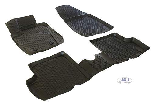 J&J AUTOMOTIVE | 3D Exclusive Tapis DE Sol en Caoutchouc Compatible avec Dacia Duster 4WD 2010-2014 4pcs