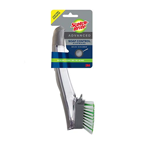 Scotch-Brite Advanced Soap Control Dishwand Brush, Easy On Hands, Antimicrobial, Long Lasting and Reusable