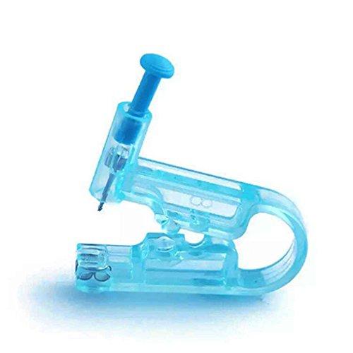 Elenxs 2pcs auriculares desechables de la nariz armas Conjunto con 2 oído herramienta de perforación de seguridad asepsia Espárragos