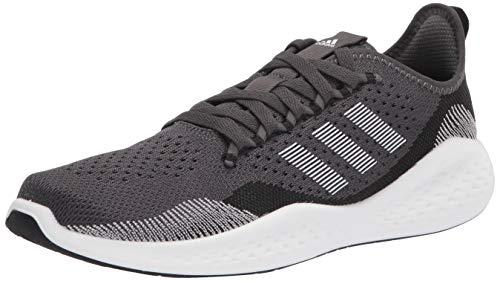 adidas Men's Fluidflow 2.0 Running Shoe, Black/White/Grey, 10