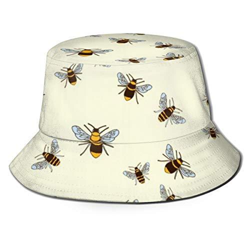 Outdoor Bucket Hats Wide Brim Sun Protection  Honeybee Patterns