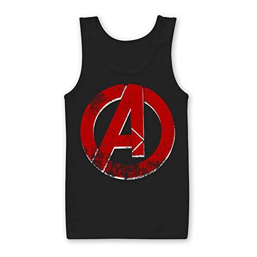 De Avengers Officieel Gelicentieerd Distressed Een Logo Mens Tank Top Vest