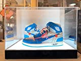 LED Powered Lights Basketball Shoes Clear Acrylic Panels Display Cases for Sports Memorabilia Products Storage Showcase (2 Shoes w/LED Lights)