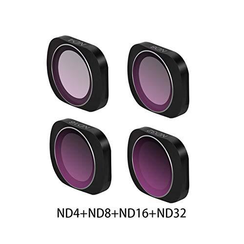 XuBa MCUV CPL NDPL ND64-PL ND32-PL ND4 ND8 Objektiv-Filterkit für DJ/I os/mo Pocket Gimbal Accessories ND4 + ND8 + ND16 + ND32