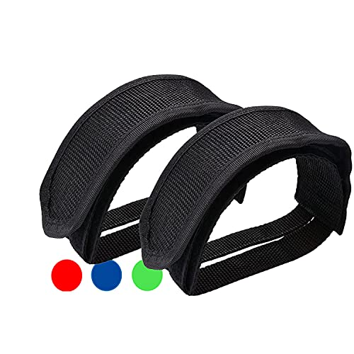 Qeedy Bike Pedal Straps Pedal 2 Pieces Universal Bicycle Feet Strap Pedal Straps Toe Clips Straps Tape for Fixed Gear Bike